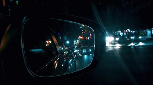 夜晚城市街景升格拍摄15秒video