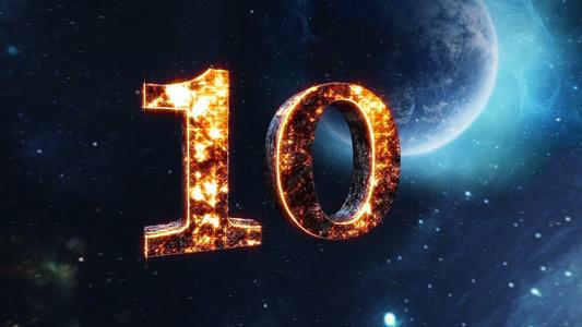 简洁大气文字版年会10秒倒计时开场展示会声会影模板116秒视频