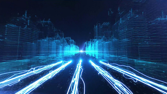 震撼科技E3D三维城市开篇AE模板40秒video