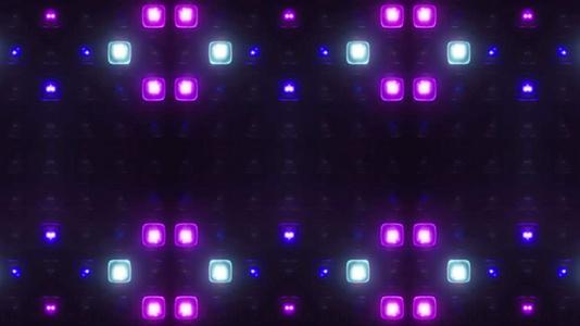 闪烁动感灯光矩阵背景视频40秒视频