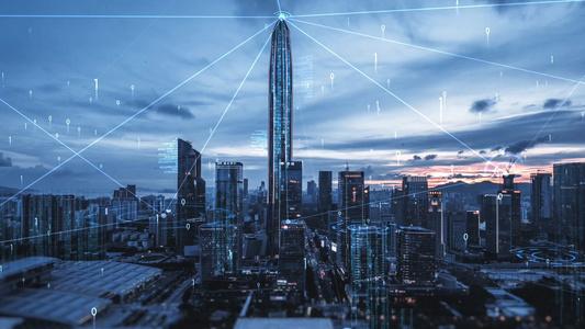 大气internet连线科技城市33秒video