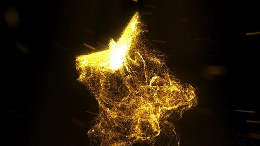 金色粒子凤凰飞舞开场片头ae模板10秒视频