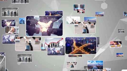 片尾汇聚标志 AEcc2015模版15秒视频