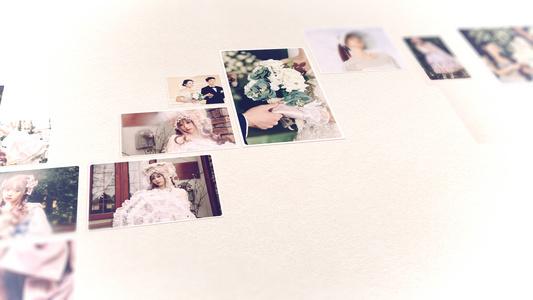 相册七夕浪漫唯美婚礼照片拼贴画形成心形图案视频53秒视频