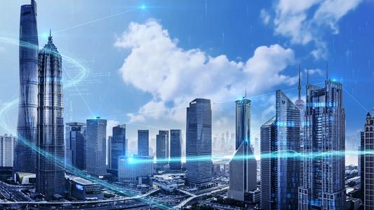 大气科技光线城市模板23秒video