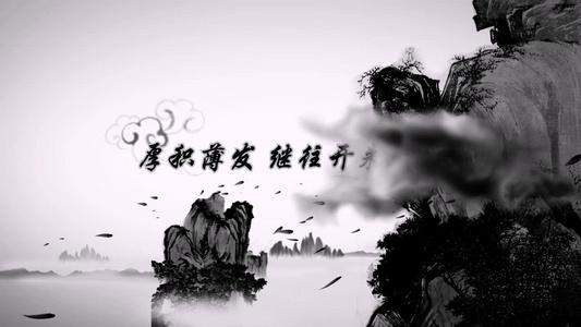 古典韵味 中国黑白 水墨画 风格背景47秒视频