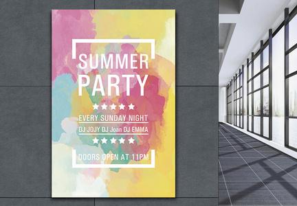 时尚色彩夏季海报图片
