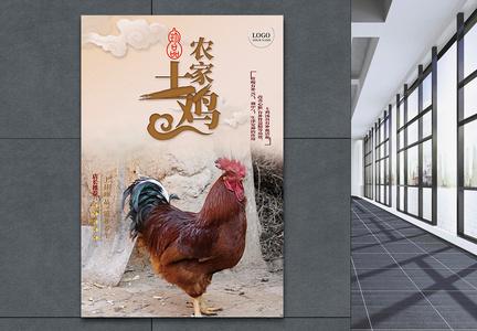 农家土鸡宣传海报图片