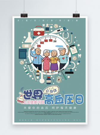 世界高血压日海报