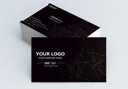 黑色线条简约商务名片设计图片