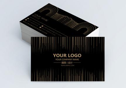 黑金经典线条名片设计图片