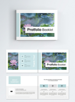 荷花清新系列整套宣传册企业设计模板图片