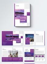 风景图大气高端企业宣传册设计模板图片
