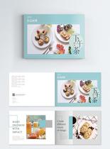简约清新下午茶美食画册图片