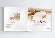 有机大米绿色食品画册图片