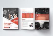 红色高端国际教育画册整套图片