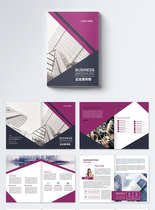 紫色高端大气企业画册图片