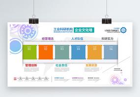 工业科研机构企业文化墙展板图片