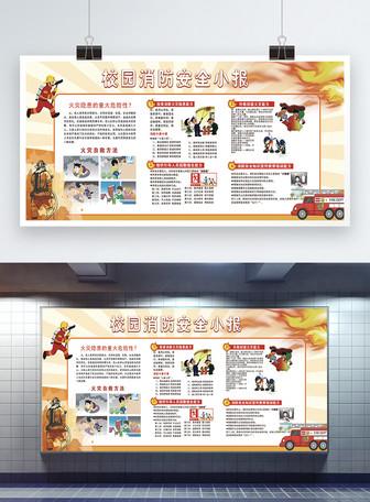 校园消防安全公益宣传展板