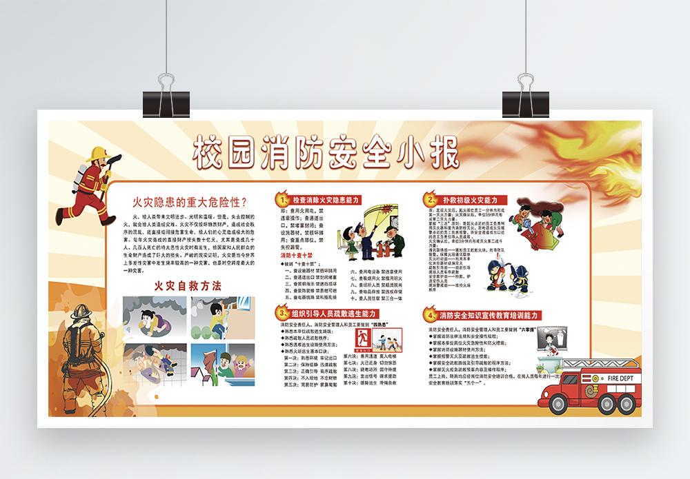 校园消防安全公益宣传展板图片