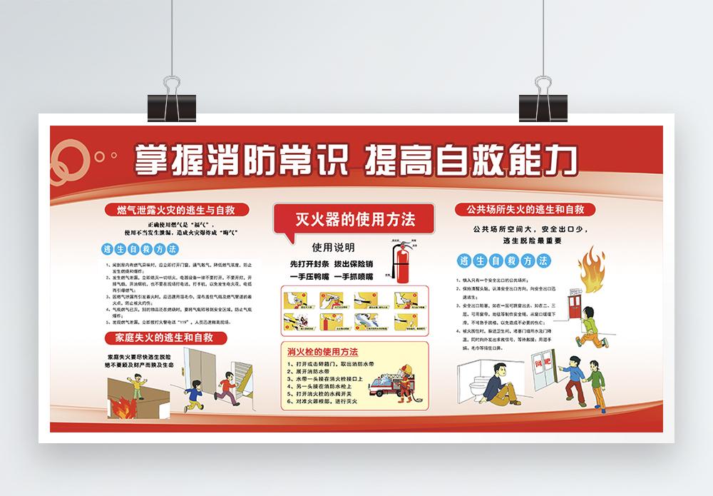 消防常识宣传展板图片