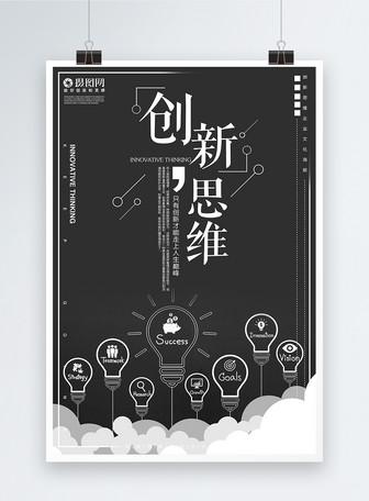 创新思维企业文化海报