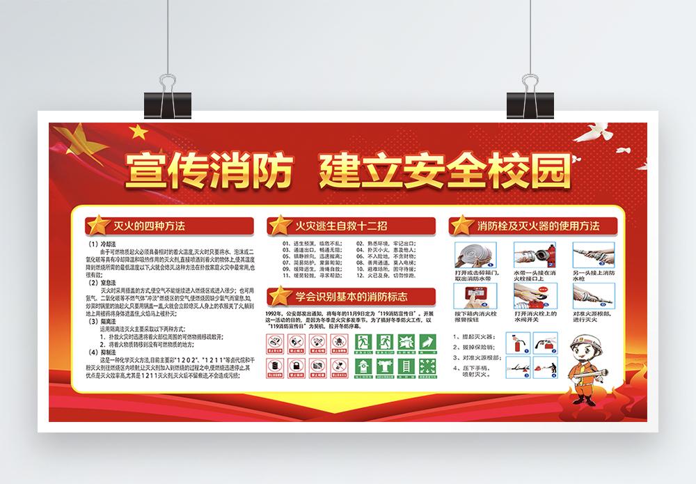 校园消防安全宣传展板图片