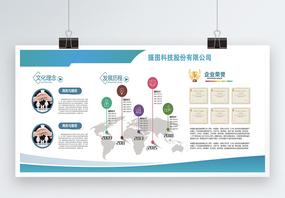企业介绍文化宣传展板图片
