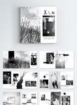 中国风黑白摄影个人作品集画册图片