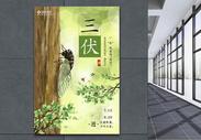 三伏天夏季海报图片