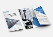 商务企业宣传三折页图片