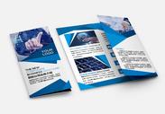 新公司业务介绍三折页图片