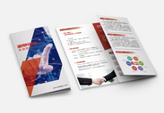 通用科技版企业折页图片