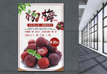杨梅水果海报图片