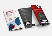企业宣传册三折页图片