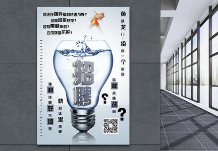 商务创意招聘海报图片