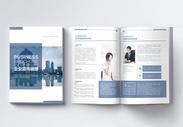 蓝色商务企业宣传画册图片