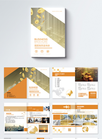 商务金融企业宣传册