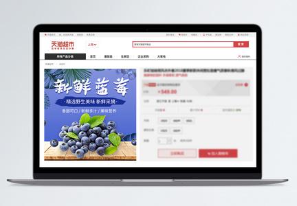 新鲜蓝莓淘宝主图图片