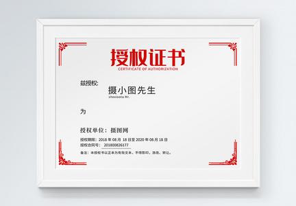 技术代理授权证书图片