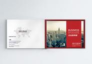 大气红色商务企业画册图片