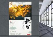 二十四节气之秋分海报图片