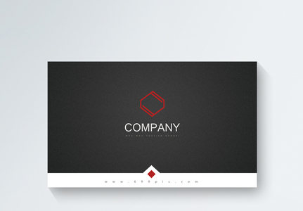 高端大气黑白色商务企业名片图片