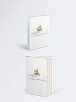 白色简约画册样机图片