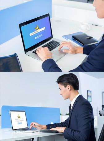 商务人士办公场景电脑样机