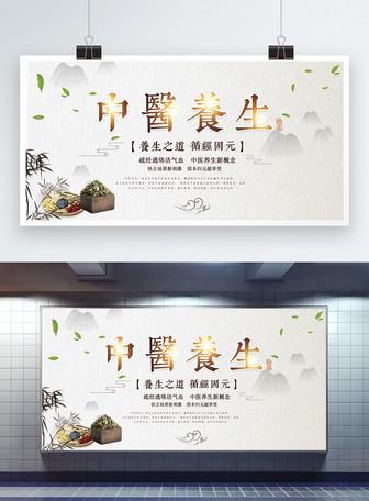 中国风医疗养生展板