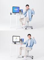 男士办公mac电脑样机图片