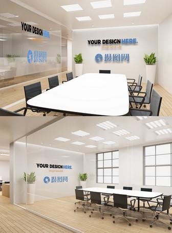 公司logo形象墙样机
