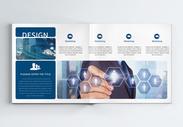 蓝色商务企业科技画册整套图片