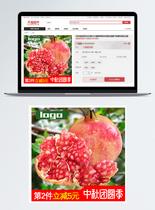 新鲜石榴水果淘宝主图图片